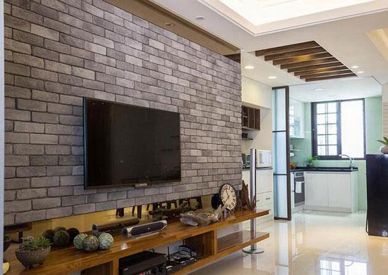多元素混搭小复式 木材砖石禅意韵味