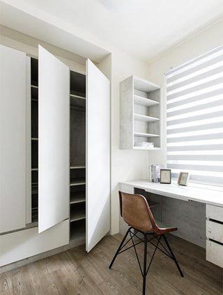 白色系书房设计构造图