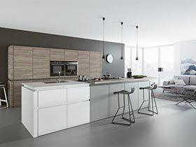 灰白色奇遇记  10个灰白色厨房厨房装修效果图
