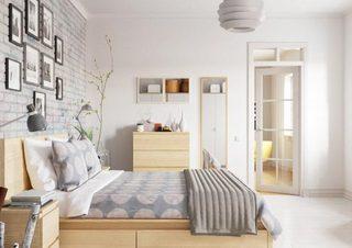 卧室裸砖背景墙设计参考图