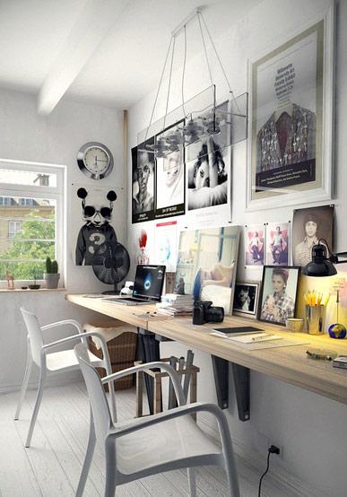 家庭工作室装修吊灯