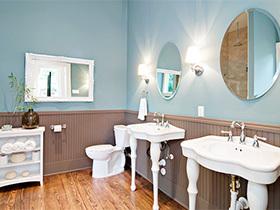 蓝色传说  10个蓝色系浴室装修图片