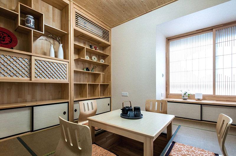 140平简约公寓装修茶室效果图