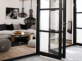 10个玻璃铁框门装修效果图 让空间更开阔