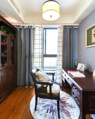 135平简美风格装修书房装修图片