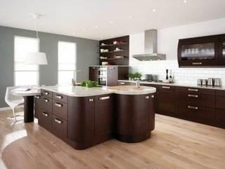 开放式厨房设计布置图