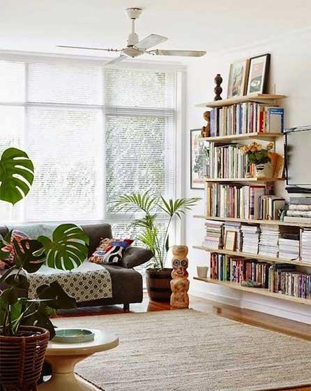 客厅墙面书架装修图片大全