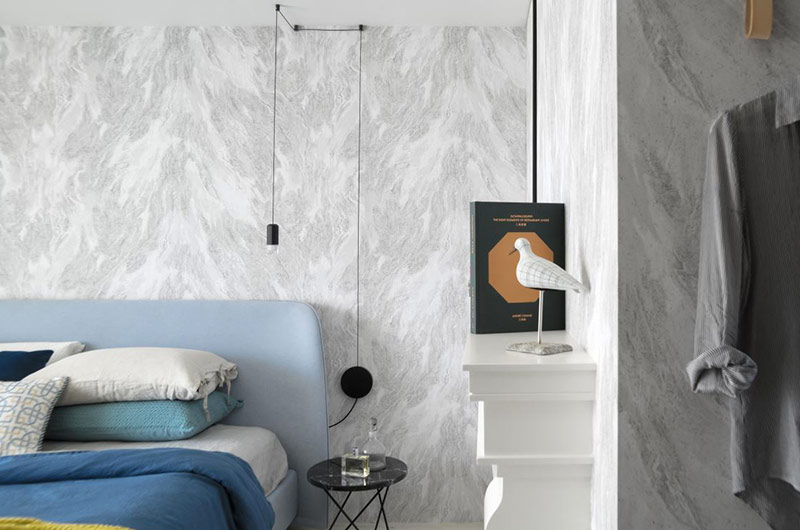 简约风格公寓卧室背景墙装修