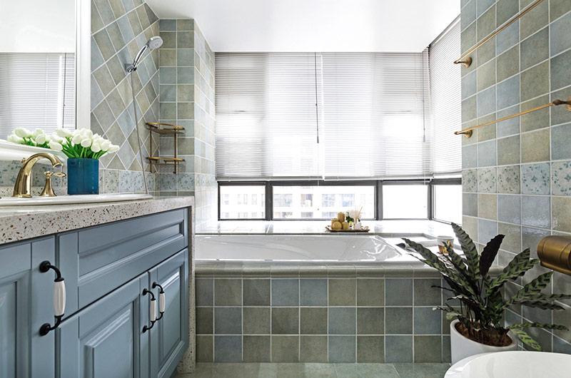 150平美式风格四居卫生间瓷砖图片