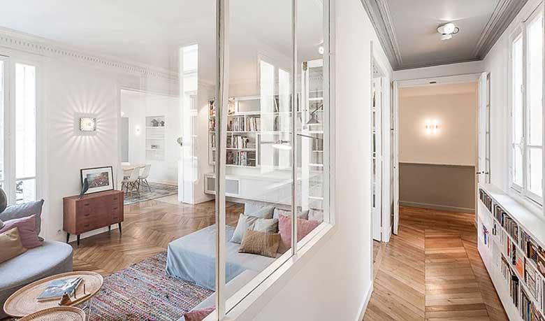 80㎡法式风格走廊图片大全