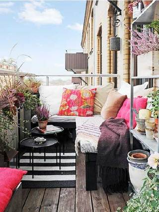 休闲阳台设计布置图