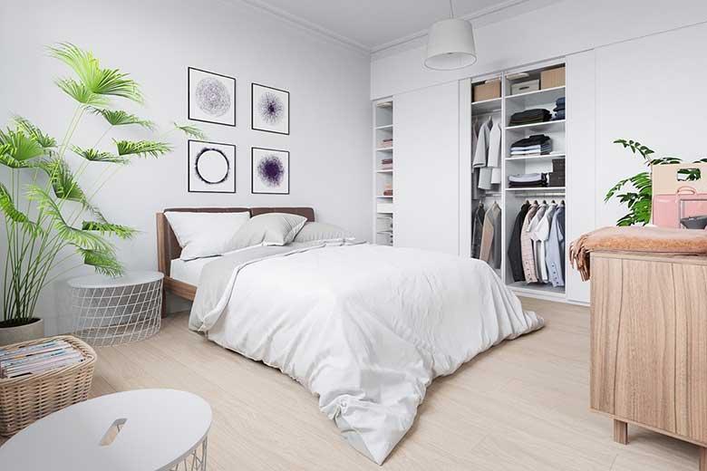 北欧风二居室卧室平面图