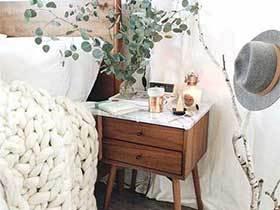 时尚装饰  10款北欧风床头柜装饰图