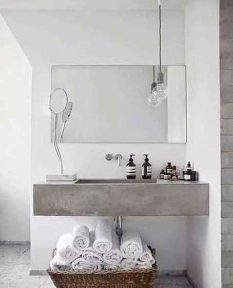 卫生间砖砌洗手池装修装饰效果图