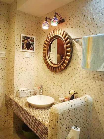 卫生间砖砌洗手池设计平面图