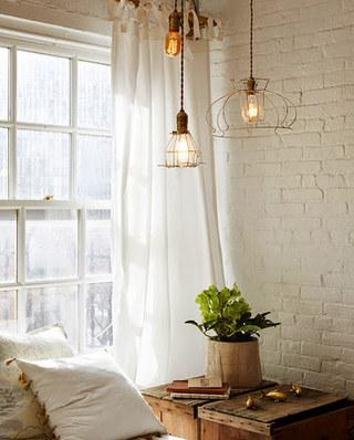 简约风格白色窗帘设计图