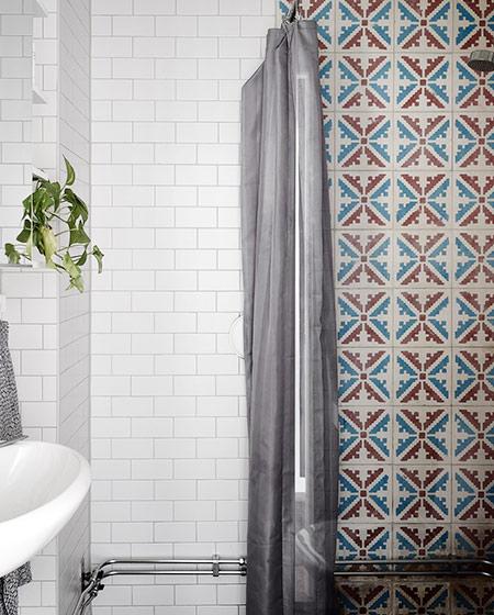 52平北欧风格一居卫生间瓷砖图