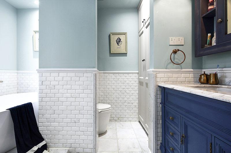 139平法式风格四居卫生间瓷砖图