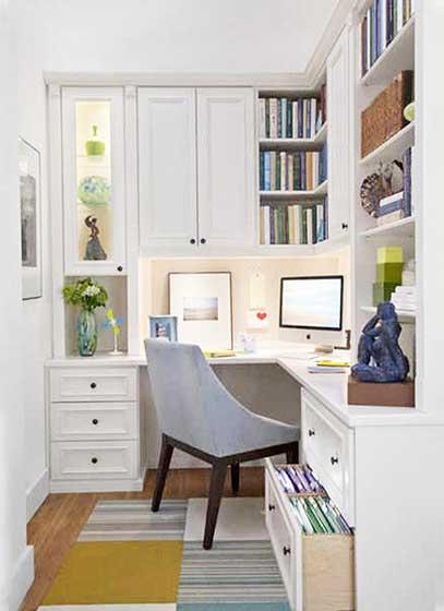 家庭工作书房装修装饰效果图