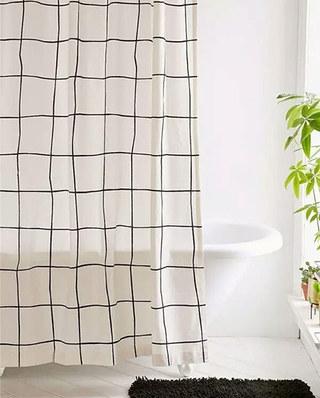 北欧风格浴帘效果图片