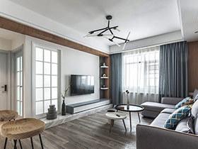 140平现代简约风格三室两厅装修 默然欢喜