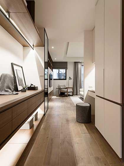 现代风格两居室玄关效果图