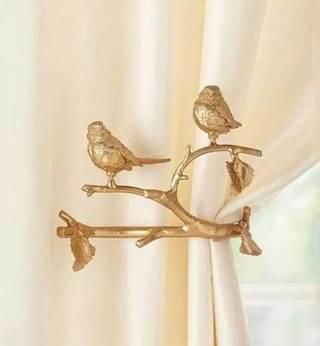 窗帘扣装饰布置摆放图