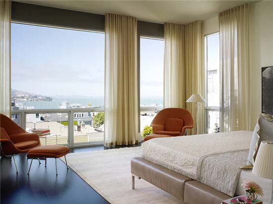 卧室落地窗设计平面图