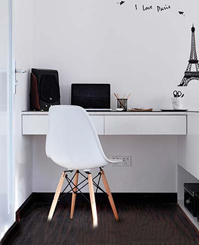 家庭书桌装修装饰效果图
