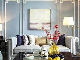 128平美式风格三室两厅装修 春光旖旎