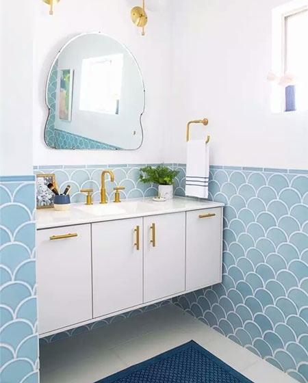 小户型卫生间装修瓷砖