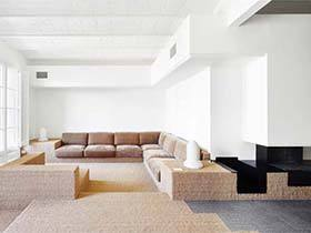 120㎡极简风白色公寓效果图  开放即完美
