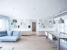 138㎡现代简约两居室图片  一对姐妹花