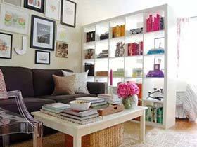 知识的香气  10款客厅书架墙图片