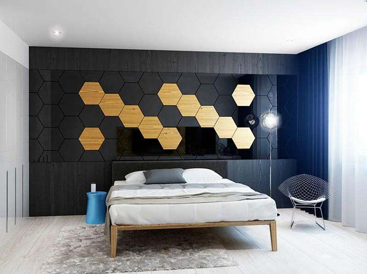 卧室背景墙装修欣赏图