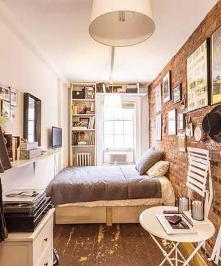 卧室背景墙布置摆放图