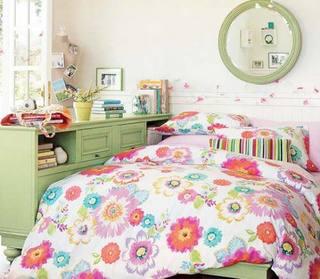 卧室背景墙装修实景图