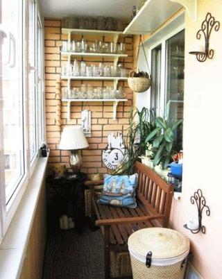 休闲阳台装修布置图片
