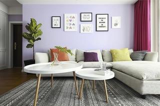90平两居室装修照片墙效果图