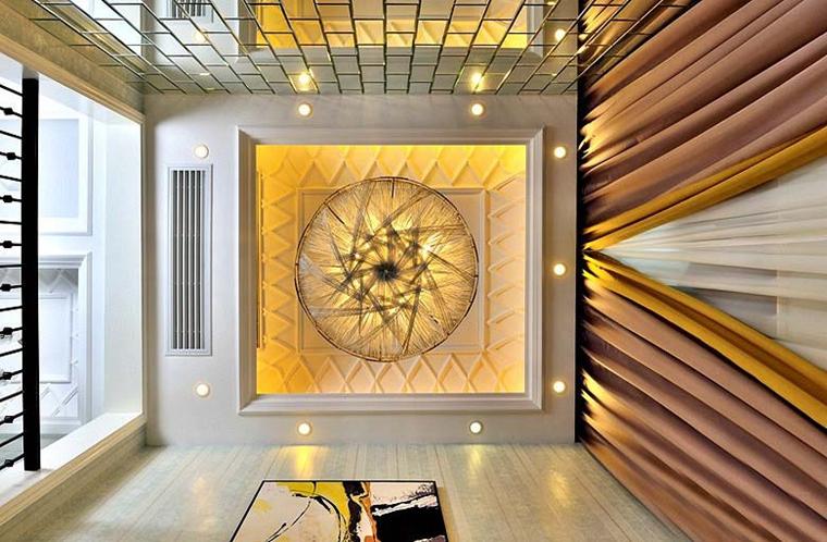 60平米时尚loft装修吊顶图片