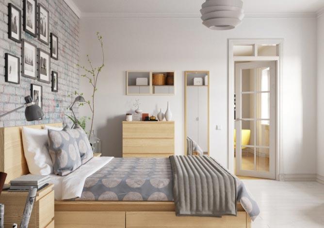 时尚卧室装修平面图