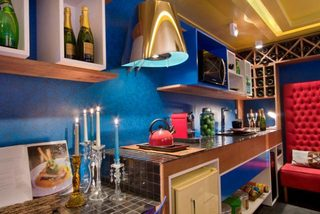 彩色厨房装修构造图