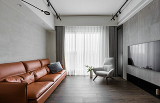 灰黑调三居室装修客厅效果图