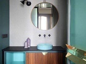 视觉的色彩  10款卫生间台盆柜装修图