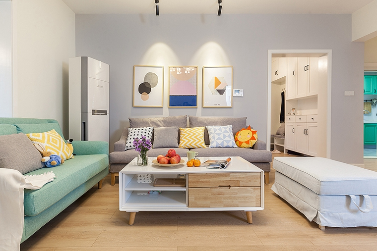 90平宜家风格装修客厅效果图