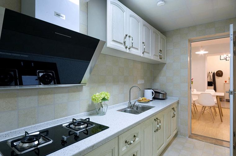 90平宜家风格装修厨房效果图