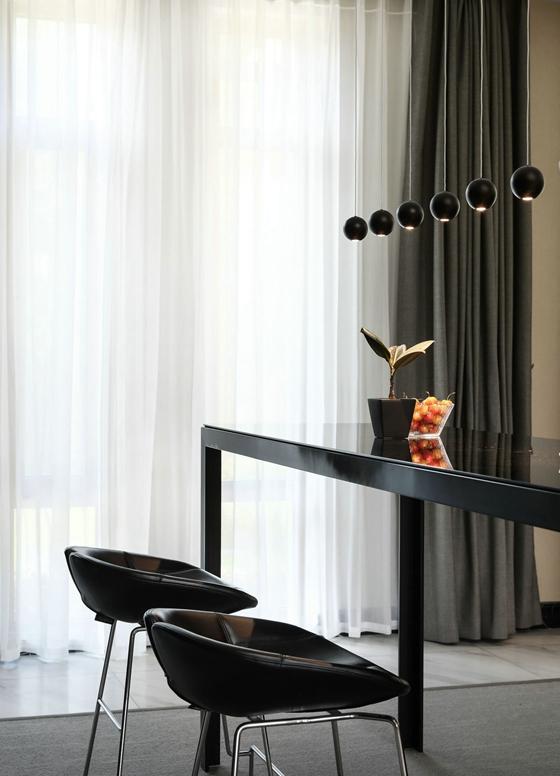 海派风格装修客厅窗帘效果图