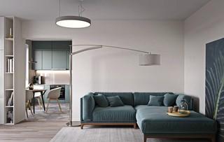 60㎡现代公寓装修效果图