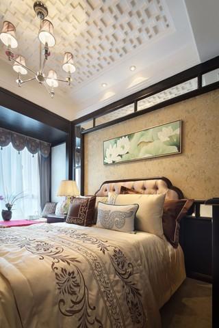 中式古典四居卧室装修效果图
