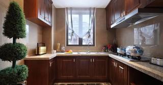 中式古典四居厨房装修效果图